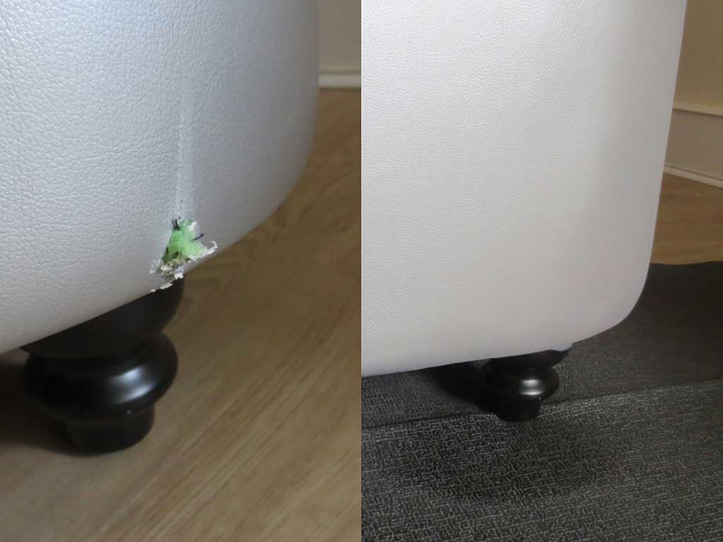 Aléta9 - réparation cuir divan